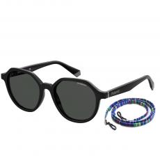 Óculos de Sol Feminino Polaroid PLD6111/S 807M9 Com Cordão