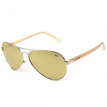 Óculos De Sol Lacoste Unissex L163S 714 62-13 Aviador Dourado Espelhado