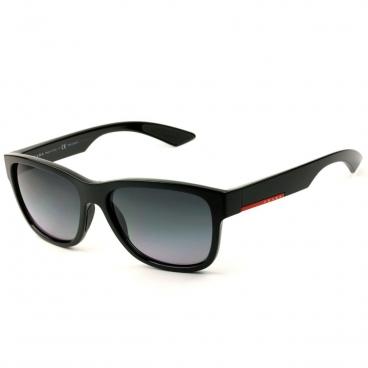 Óculos de Sol Prada Masculino SPS03Q 1AB-5W1 Preto Brilho Polarizado
