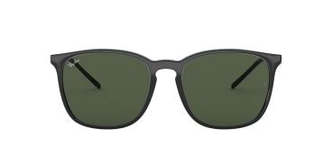 Óculos de Sol Ray-Ban RB4387 601/71 56-18 Preto Brilho Lentes Verde