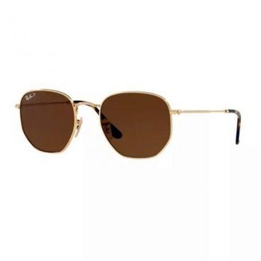 Óculos De Sol Ray Ban Hexagonal Rb3548-n 001/57 54-21 Polarizado
