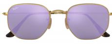 Óculos De Sol Ray-Ban Hexagonal Rb3548-nl 001/8o Roxo Espelhado