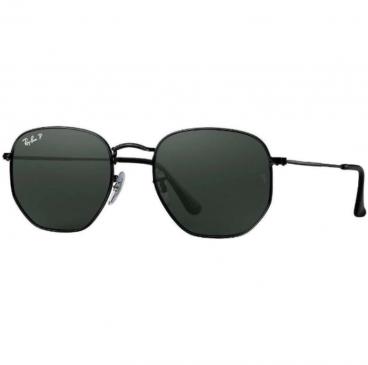 Óculos De Sol Ray Ban Rb3548-n 002/58 54 Preto Polarizado Hexagonal