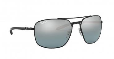 Óculos de Sol Ray-Ban RB8322CH 002/5L 62-17 Chromance Polarizado Fibra de Carbono