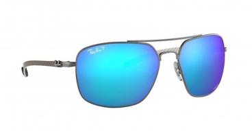 Óculos de Sol Ray-ban RB8322-CH 004/A1 62-17 Chromance Polarizado Fibra de Carbono