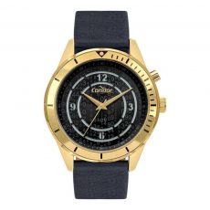 Relógio Condor Masculino COY121E3AC/2D Dourado Pulseira de Couro