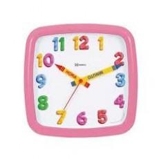 Relógio de Parede Analógico Herweg Rosa 660080 234