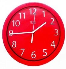 Relógio de Parede Analógico Herweg Vermelho 6718 044