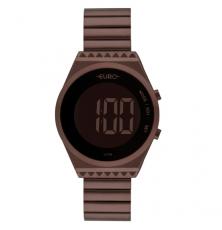 Relógio Feminino Euro Fashion Fit Eubjt016af/4m Digital Marrom