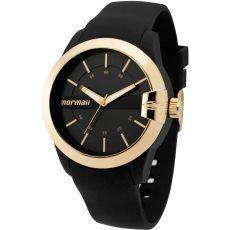 Relógio Mormaii Unissex MOPC21JAG/8P Esportivo Preto e Dourado Silicone