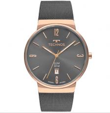Relógio Technos Gm10yn/4p Classic Slim Unissex Grafite e Rosê