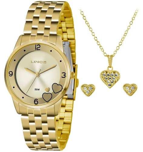 cdced793e7c Kit Relógio Lince Feminino Lrg4517l Ku35 - Omega Ótica e Relojoaria