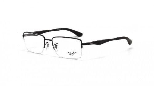 Armação De Óculos Ray-ban Rb6285 2503 53-18 Preto Fosco