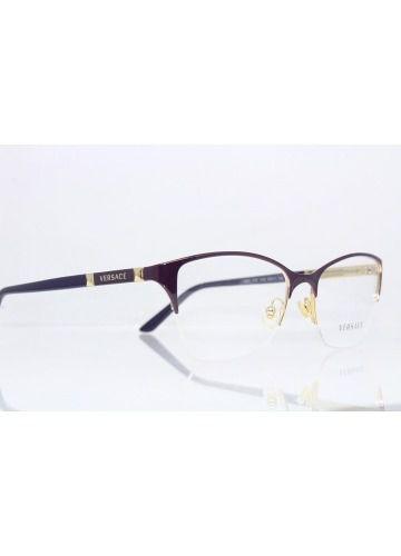 4483c12f1e019 Armação De Óculos Versace Feminina Mod.1218 1345 - Omega Ótica e ...