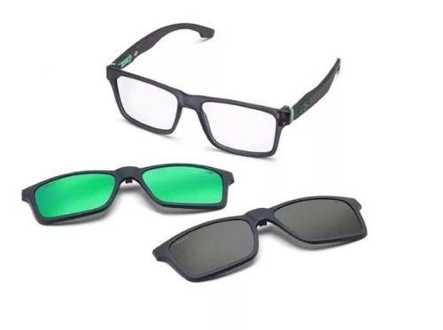 45c853d3a4e87 Armação Óculos Grau Mormaii Swap M6057d6356 Cinza Polarizado - Omega ...