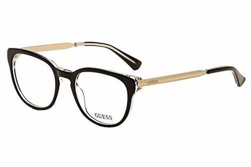Armação De Óculos Guess Gu2461 Blk 50-19 135
