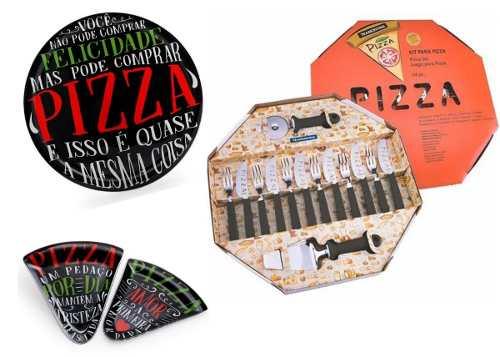 Kit Para Pizza Preto 21 Peças - Tramontina & Decorglass