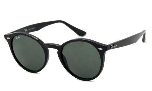 Óculos De Sol Ray-ban Rb2180l 601/71 Preto Brilho Redondo