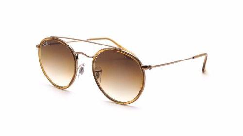 Óculos Solar Ray Ban Rb3647-n 9070/51 51 Round Marrom