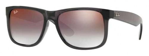 Óculos De Sol Ray-Ban Rb4165L  Justin 606/U0 Cinza Translúcido