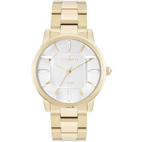 Relógio Technos Dourado Feminino Elegance Crystal 2039br/4k