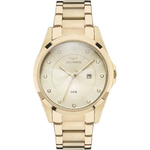 Relógio Technos Dourado Feminino Elegance Crystal Gn10as/4x