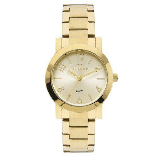 Relógio Technos Dourado Feminino 2035mln/4x