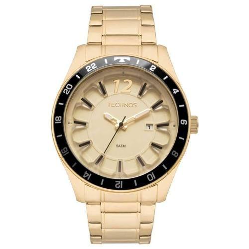 969fab92b0c Relógio Technos Masculino Dourado 2117las 4x - Omega Ótica e Relojoaria