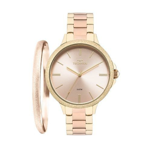 Kit Relógio Technos Feminino 2035mmb/k4t