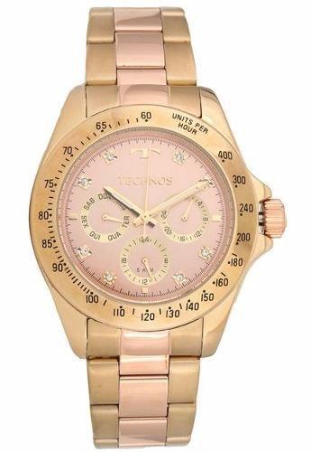 Relógio Technos 6p29aiu/5t Dourado e Rosê