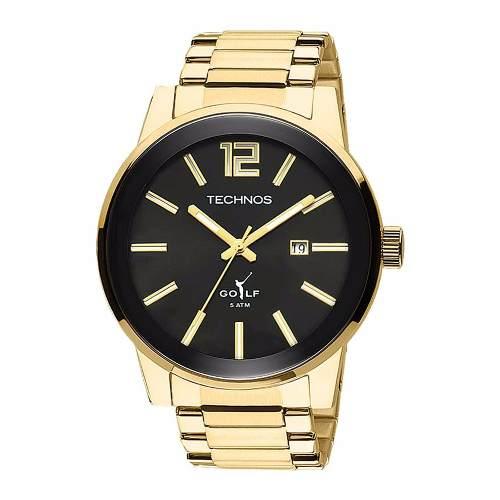 Relógio Technos Golf Masculino Analógico Dourado 2115tt/4p