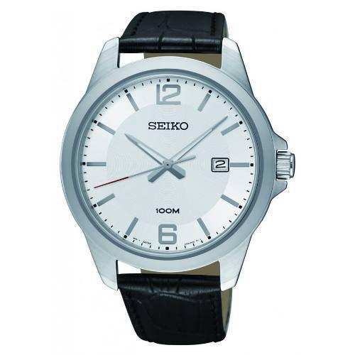 Relógio Seiko Masculino Com Pulseira De Couro Sur249b1 S1px