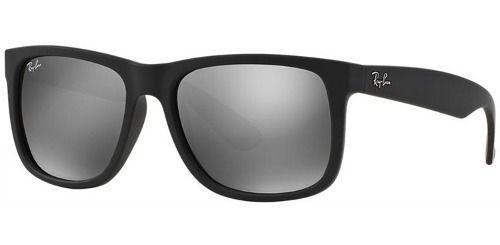 Óculos De Sol Ray-ban Justin Rb4165l 622/6g 57 Preto Fosco Espelhado