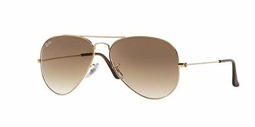 Óculos De Sol Ray-ban  Rb3025l 001/51 55-14 Aviador Marrom