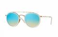 Óculos Solar Ray-Ban Rb3647-n 001/40 51-22 Azul Branco Dourado