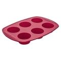 Forma Para 6 Mini Bolos Redondos Em Silicone Euro Home