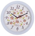 Relógio Parede Herweg Branco Fosco 660030 132 Corujinhas