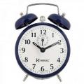 Relógio Despertador Corda Retrô Herweg 2206 Azul Escuro