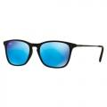 Óculos De Sol Ray-ban Infantil Rj9061s 7005/55 Azul Espelhado