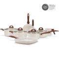 Jogo de Panelas Ceramic Smart Plus Vanilla Brinox 8 peçs