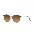 Óculos De Sol Ray-Ban Rb3546 9009/85 52-20 Marrom e Dourado