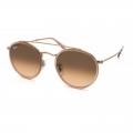 Óculos De Sol Ray-ban Rb3647-n 9069/a5 51-22 145 Round Double Bridge Rosê