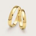 Par de Alianças Abauladas em Ouro 18k Noivado Casamento