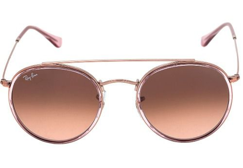 Óculos De Sol Ray-ban Rb3647-n 9069/a5 51-22 145 Round Double Bridge Rosê