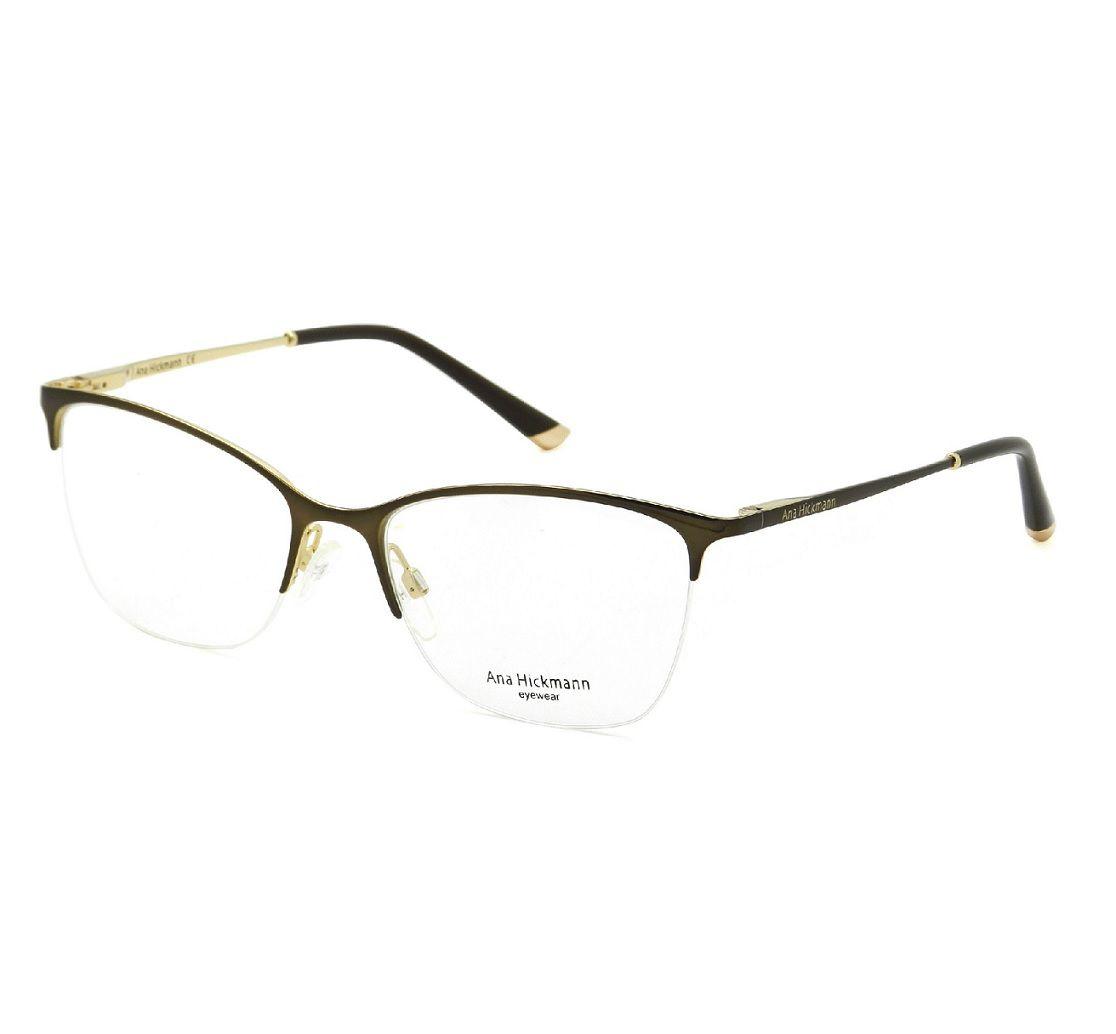 9f3afa019 Armação De Óculos Ana Hickmann ah1318 01as 54 17 - Omega Ótica e ...