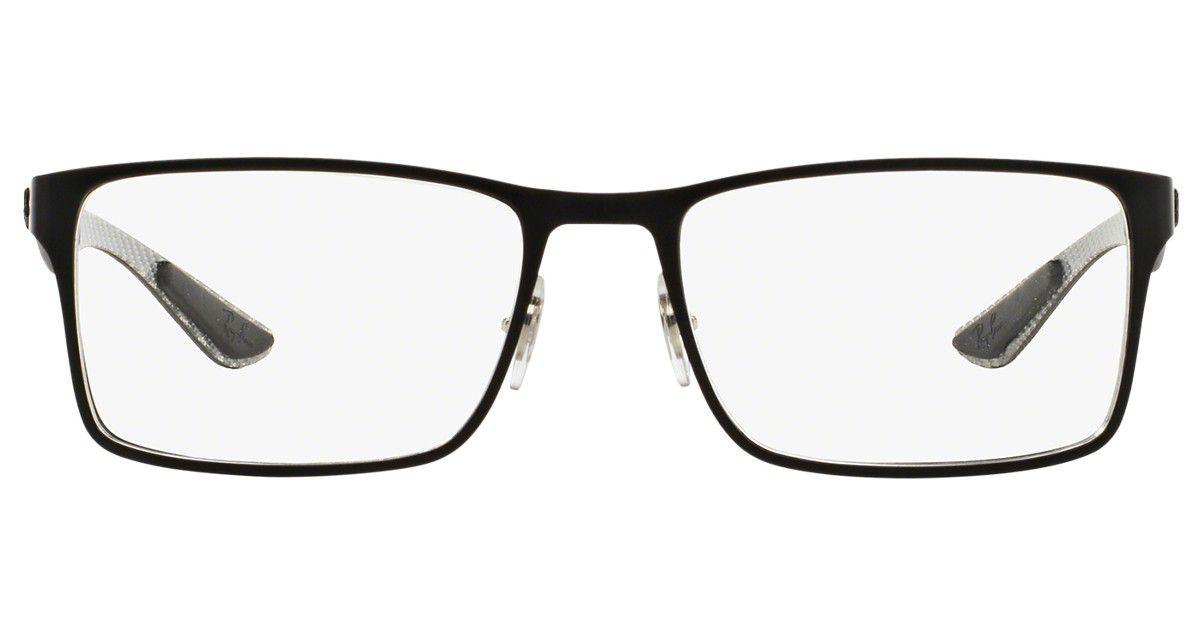 Armação De Óculos Ray-ban Rb8415 2503 55-17 145 Fibra de Carbono