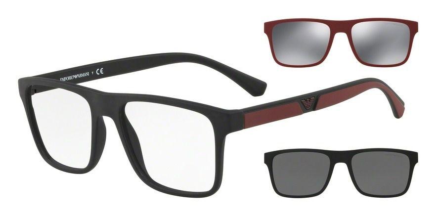 ff4398fe1 Armação Óculos De Grau Clip On Emporio Armani Ea4115 5042/1w - Omega ...