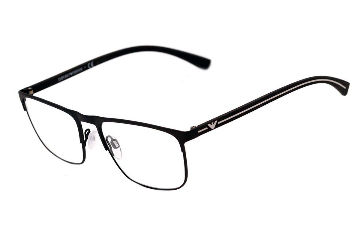 Armação Óculos de Grau Emporio Armani EA1079 3094 55-18 Preto Fosco