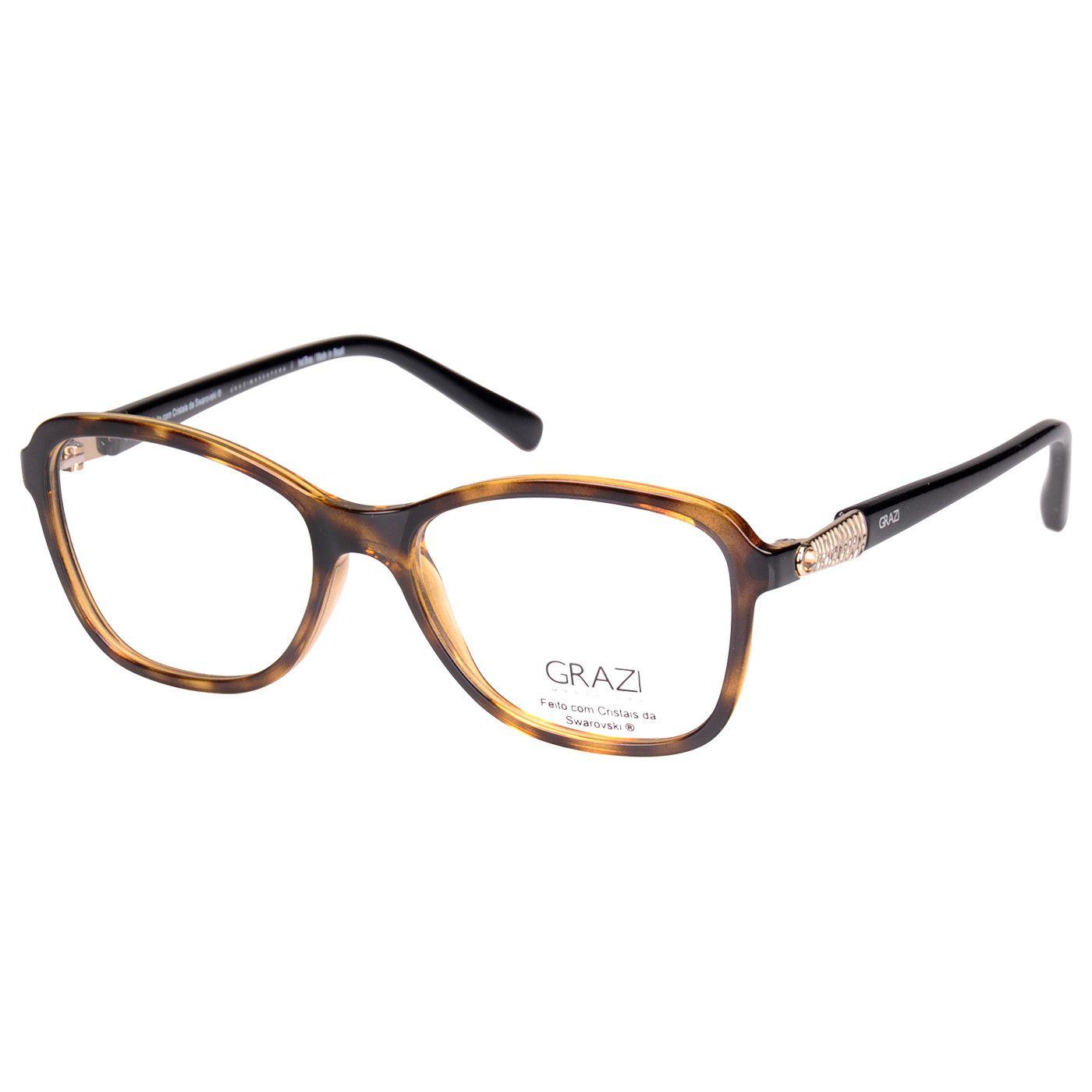 16748f276 Armação Óculos De Grau Feminina Grazi Massafera GZ3021B E100 - Omega ...
