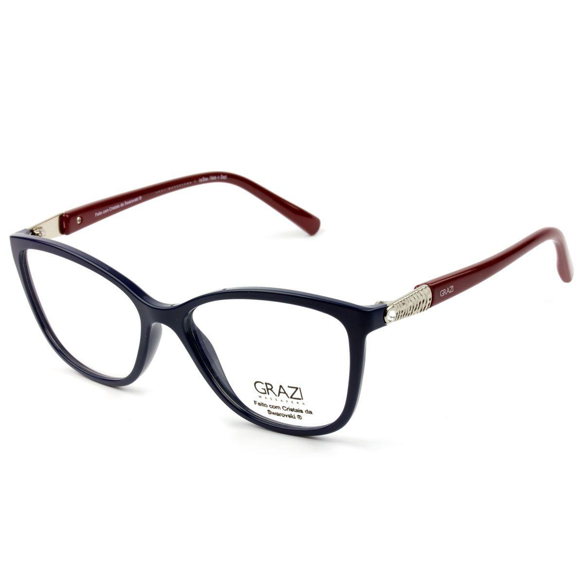 44fb68bc2dbfc Armação Óculos De Grau Feminino Grazi Massafera GZ3022B E104 - Omega ...